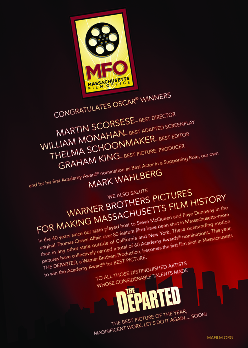 MFO Variety Ad Congratulates DEPARTED on Academy Awards -- March 15, 2007