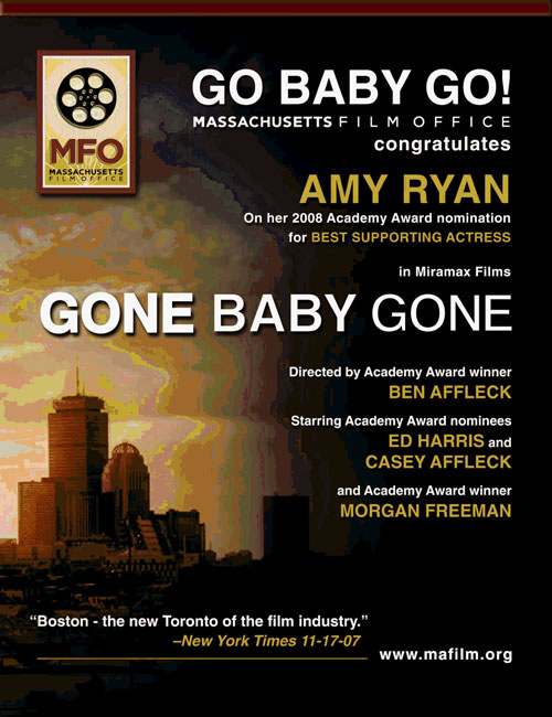 MFO Variety ad for Gone Baby Gone.