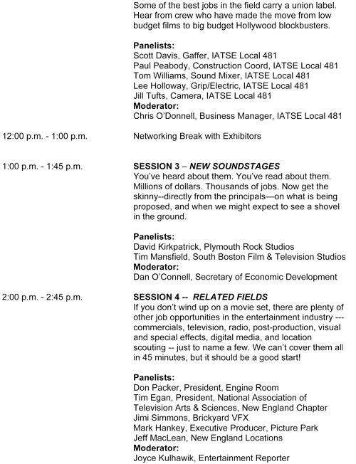 JCA-schedule