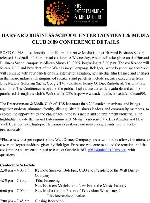 Disney's Iger to speak at Harvard Biz School