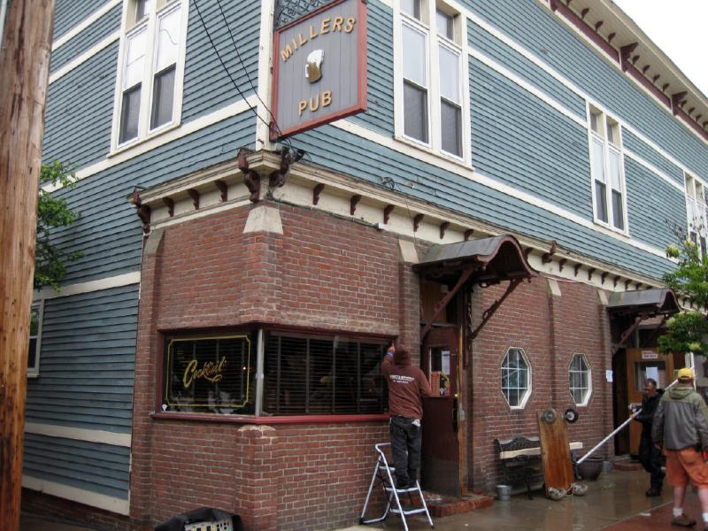 On Thursday workers prepared the Millers Pub on East Main Street in Millers Falls for its second Hollywood appearance in as many years.