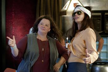 "Melissa McCarthy and Sandra Bullock in the shot-in-Boston cop comedy, ""The Heat."""