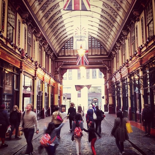 Leadenhall Market, featured in Harry Potter films