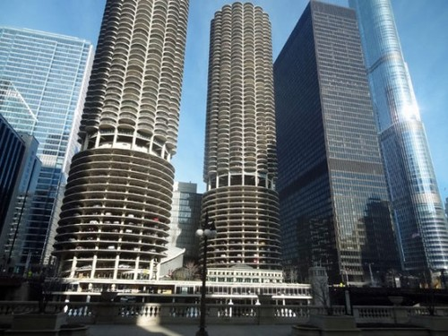 Chicago's famous Marina City and Towers