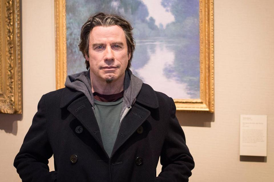 """The Forger"" shot scenes at the Museum of Fine Arts (with star John Travolta, above) and in Marblehead. (MUSEUM OF FINE ARTS)"