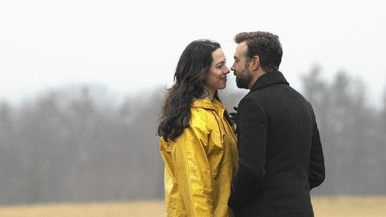 """""""Tumbledown"""" is based on Desi Van Til's life growing up in Farmington, Maine. The filmmaker gave up on her dream of filming """"Tumbledown"""" in Maine because the state's film tax incentive wouldn't offset the movie's budget much. Above, """"Tumbledown"""" stars Rebecca Hall and Jason Sudeikis. (Seacia Pavao)"""