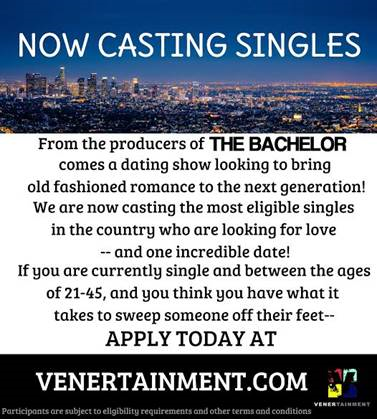 Dating show casting