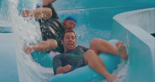 """Massachusetts-native Adam Sandler's Happy Madison production company often shoots in the state. """"Grown Ups"""" included scenes shot at Water Wizz in Wareham. (YouTube)"""