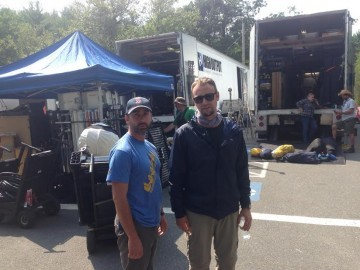 Joe and Brian Girard on set of 'Sea of Trees.'