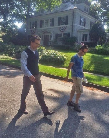 Joe Girard with Matthew McConaughey walking the streets of Worcester
