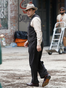 Ben Affleck on the set of Live by Night (FameFlyNet)