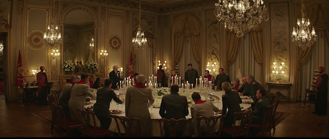 The Atlanta History Center's Swan House appeared in The Hunger Games: Mockingjay Part 2 as President Snow's mansion. Courtesy of Lionsgate