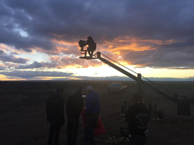 Tequila sunrise: The first original feature from horror distributor Scream Factory, Fender Bender shot in Albuquerque late 2015. Photograph by Carl Lucas