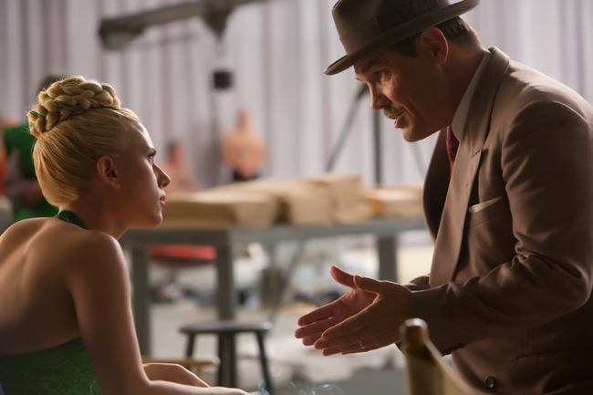 Scarlett Johansson and Josh Brolin in the Coen Brothers' Hail, Caesar!, set in L.A. during Hollywood's Golden Age. Courtesy of Universal Pictures