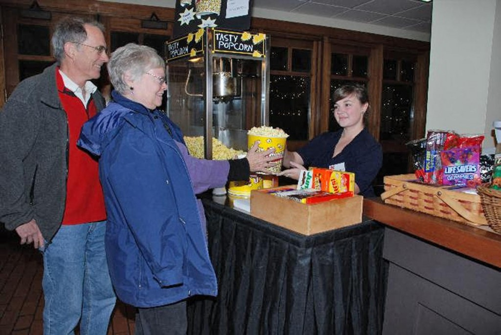 Two customers purchase snacks at the concession stand of the Plimoth Plantation Theater, located in the museum's visitor center. /photo courtesy Plimoth Plantation