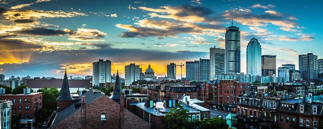 The Boston skyline in panorama. Courtesy of Pixabay