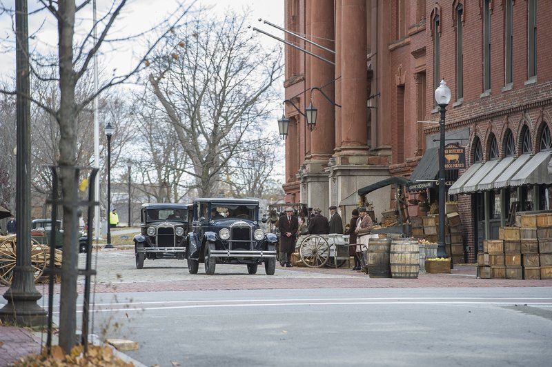 "Filming of Ben Affleck's upcoming movie ""Live By Night"" took place in downtown Lawrence in November (Amanda Sabga/Staff File Photo)"
