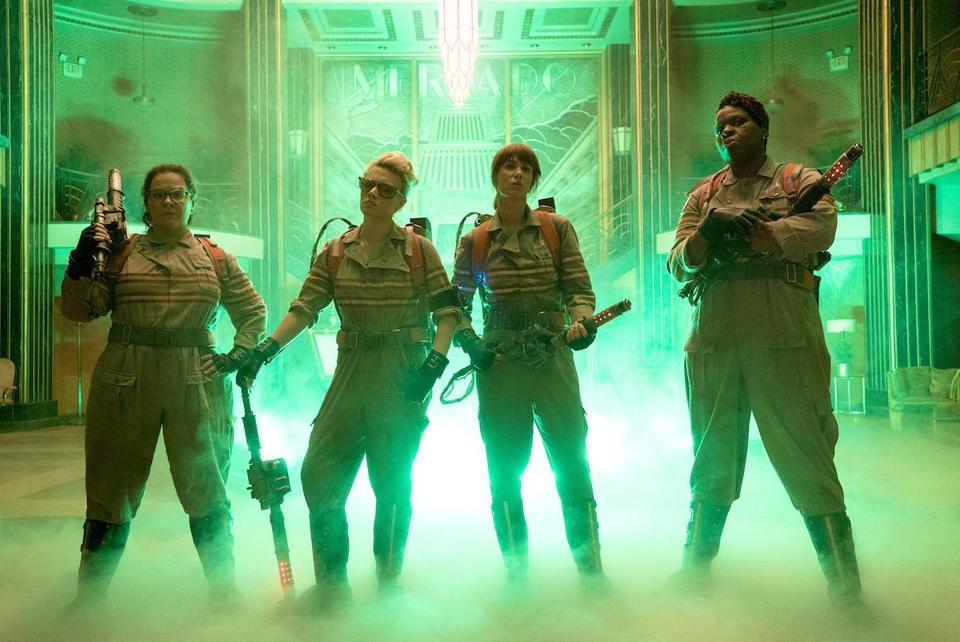 The Ghostbusters in Columbia Pictures' new film. (Hopper Stone, SMPSP)