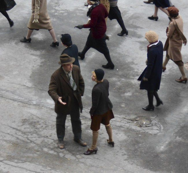 "(Photo courtesy of Susan Grabski Lawrence History Center) A scene from ""Live by Night"" is shot in Lawrence at the Everett Mills in 2015."