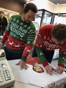 Will Ferrell signed a shirt for the husband of one of the employee. (Courtesy of Priscilla Candy Shop)