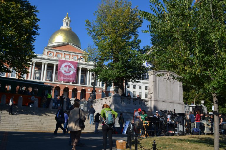 Boston's iconic State House is a prime New England locale for moviemakers making in-state productions. Photograph by Tim Grafft.