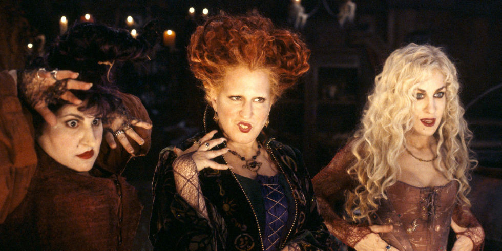 Kathy Najimy, Bette Midler and Sarah Jessica Parker in 1993's Hocus Pocus. Image by Disney