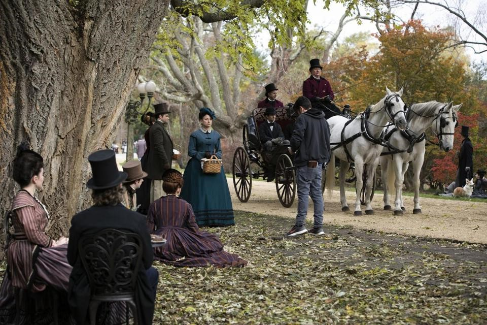 "Harvard's Arnold Arboretum was transformed on Wednesday, Oct. 31 for the filming of ""Little Women."""