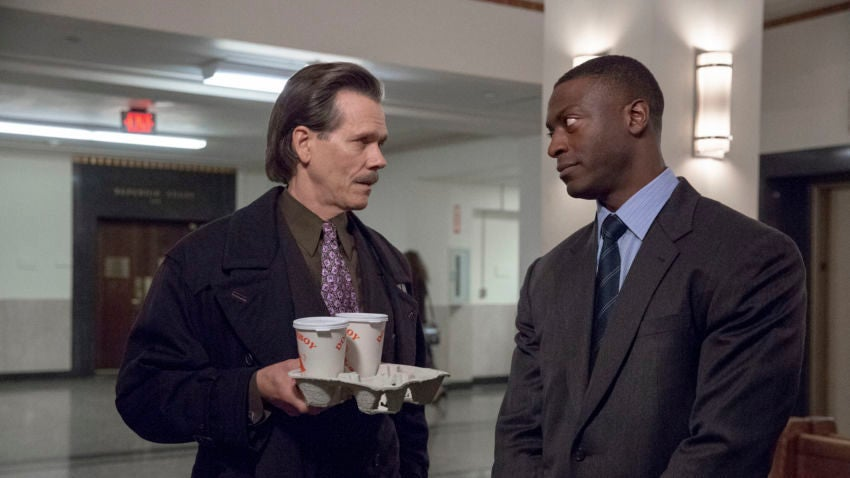 "Kevin Bacon and Aldis Hodge in ""City on a Hill.""	—Claire Folger/Showtime"