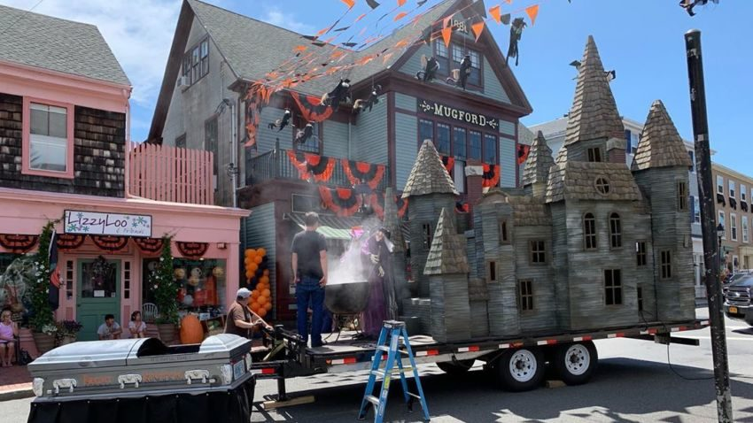"Marblehead is transformed for the filming of ""Hubie Halloween,"" a Netflix movie starring Adam Sandler. —Leo Wellock/Instagram"