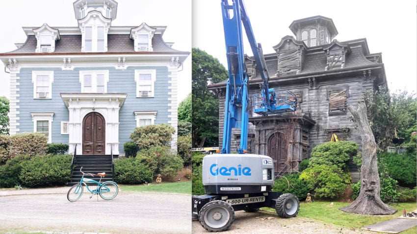 """The Hotel Marblehead has been transformed for filming of the Adam Sandler Netflix movie """"Hubie Halloween."""" –Courtesy The Hotel Marblehead"""
